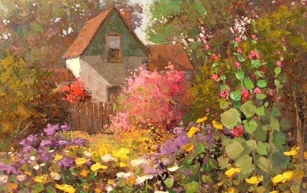 Фото обои арт, Sean Wallis, Home Among The Garden