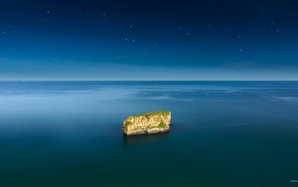 Фото обои море, пейзаж, скала