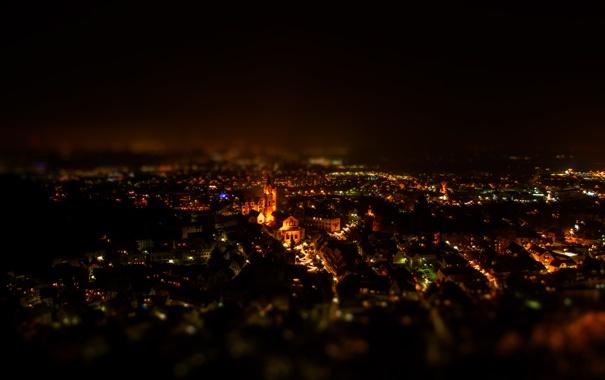 Фото обои ночь, город, фотограф, photography, photographer, Björn Wunderlich, Weinheim