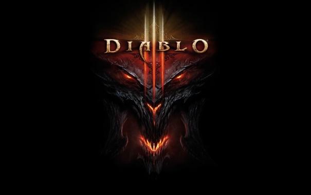 Фото обои морда, огонь, демон, Diablo 3