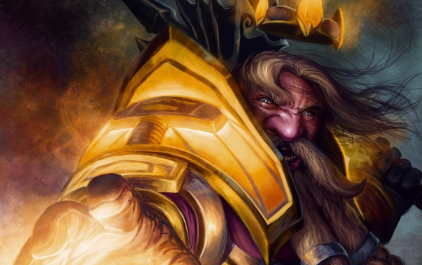 Фото обои World of Warcraft, Dwarf, Паладин, Гнев, Дворф