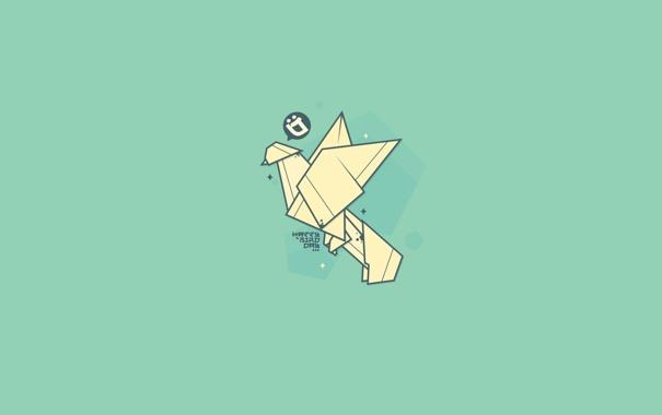 Фото обои бумага, Минимализм, оригами, журавль