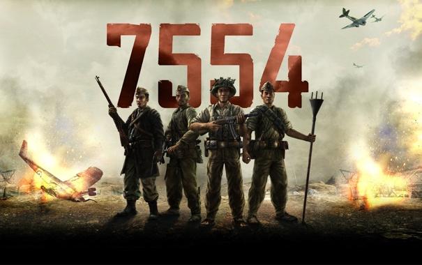 Фото обои война, солдаты, war, 7554