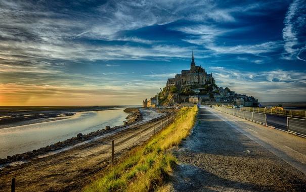 Фото обои France, Le Mont-St.-Michel, Basse-Normandie
