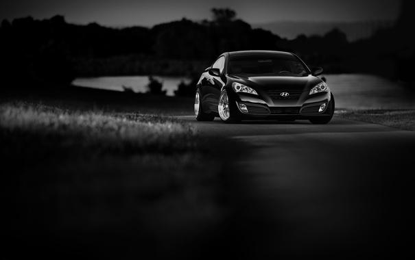 Фото обои white, Hyundai, black, Coupe, Genesis