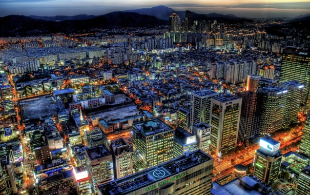 Фото обои buildings, seoul, city, город, south korea, корея, сеул