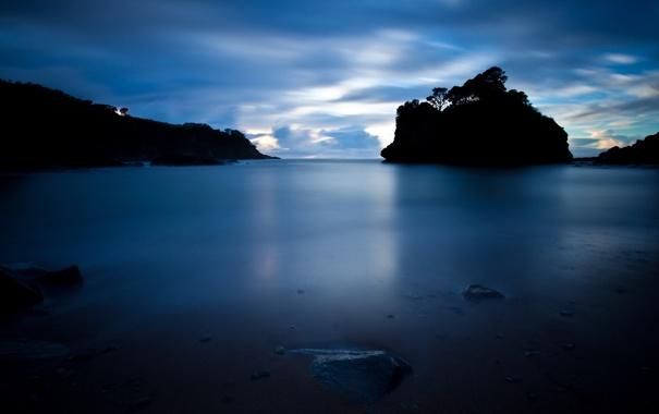 Фото обои пейзаж, ночь, природа, озеро