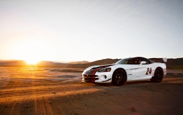 Фото обои солнце, тачки, viper, додж, cars, dodge, auto wallpapers