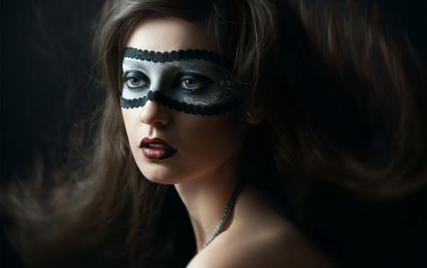 Фото обои макияж, маска, губки, Яна