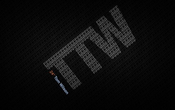 Фото обои буквы, надпись, минимализм, цифры, ttw, tom wilson