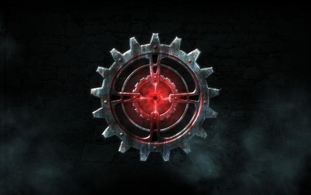 Фото обои игра, эмблема, рендер, шестерня, Legend of Grimrock