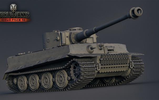 Фото обои Тигр, Германия, танк, танки, Germany, рендер, WoT