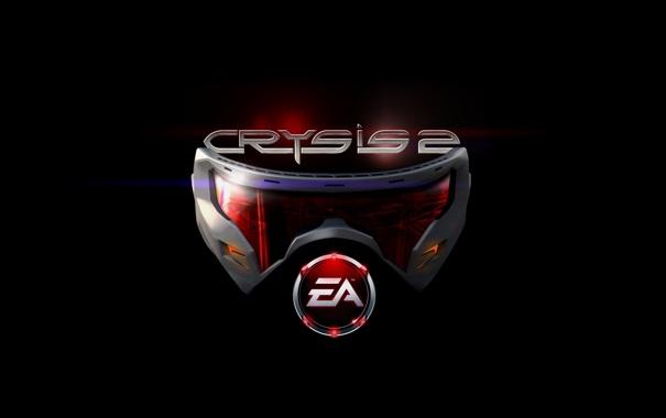 Фото обои логотип, маска, crysis