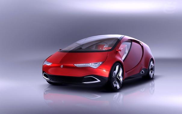 Фото обои car, авто, красный, обои, concept, концепт, wallpaper
