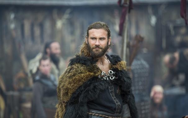 Фото обои мех, Vikings, Викинги, Clive Standen, Rollo
