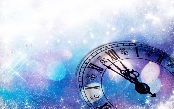 Фото обои время, праздник, часы, новый год, 2014