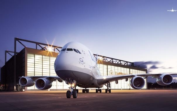 Фото обои Самолет, Авиация, Airbus, А380