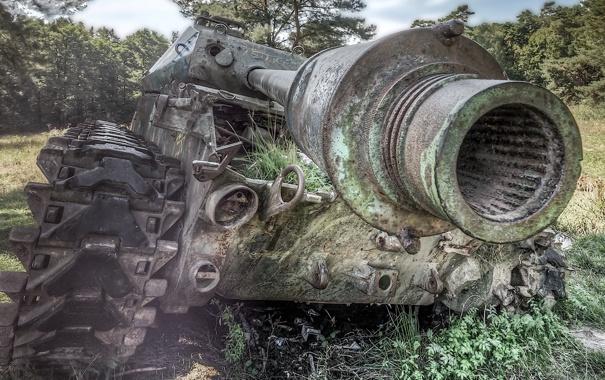 Фото обои лом, танк, оружие