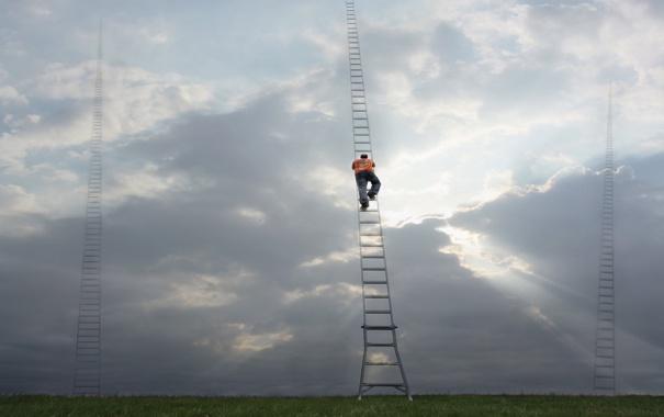 Фото обои climb, ladders, Ascent, choices, many paths to Heaven
