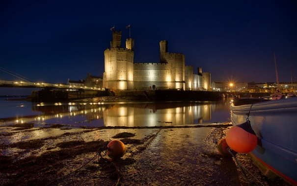 Фото обои Wales, United Kingdom, Caernarfon