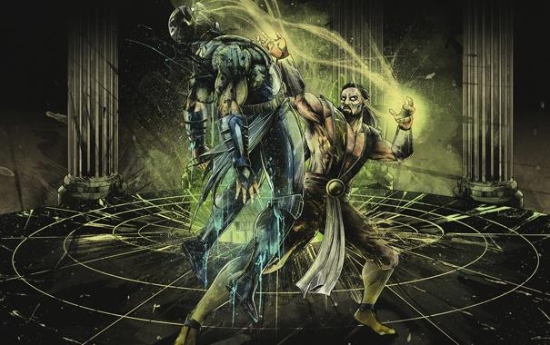 Фото обои art, scorpion, soul, mortal kombat, Shang Tsung