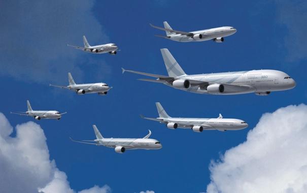Фото обои Самолет, Модели, Airbus