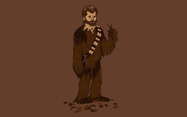 Фото обои шерсть, Star Wars, Звездные Войны, бритва, Чубакка, Chewey, Chewbacca