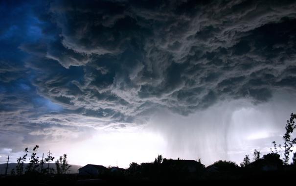 Фото обои небо, облака, очертания