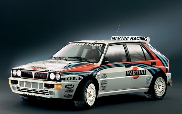 Фото обои rally, Lancia, delta, integrale, martini racing, michelin, evoluzione