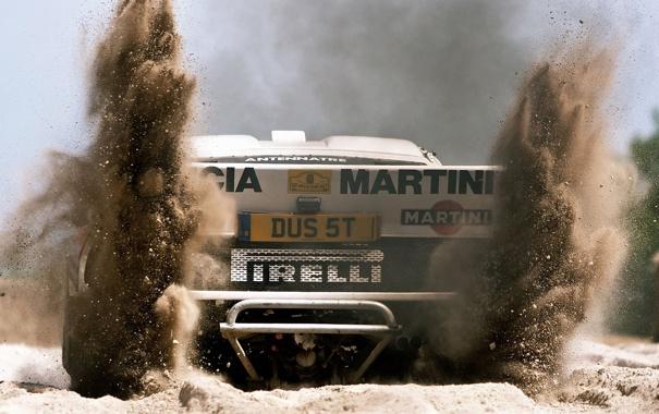 Фото обои песок, авто, гонка, пыль, грязь