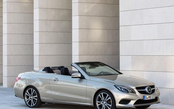 Фото обои car, Mercedes-Benz, серебристый, silver, мерседес, Cabrio, BlueTec