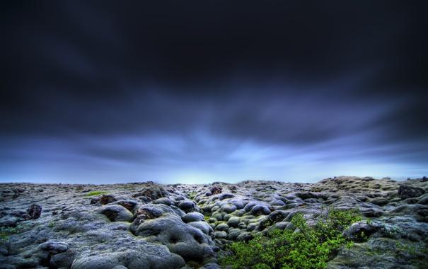 Фото обои небо, природа, камни, горизонт