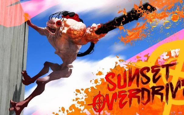 Фото обои мутант, TPS, Sunset Overdrive, Insomniac Games