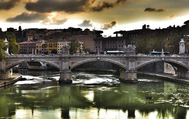 Фото обои мост, рим, Ponte Vittorio