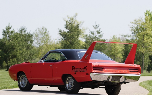 Фото обои мускул кар, 1970, Plymouth, задок, Superbird, Road Runner, мощный