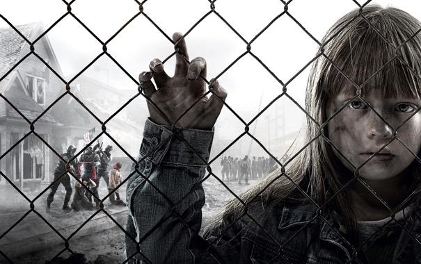 Фото обои взгляд, надежда, дом, сетка, рука, девочка, заложники
