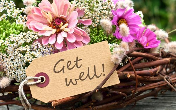 Фото обои цветы, букет, flowers, get well