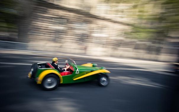 Фото обои дорога, машина, движение
