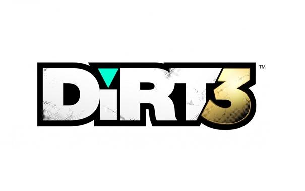 Фото обои надпись, игра, логотип, dirt 3