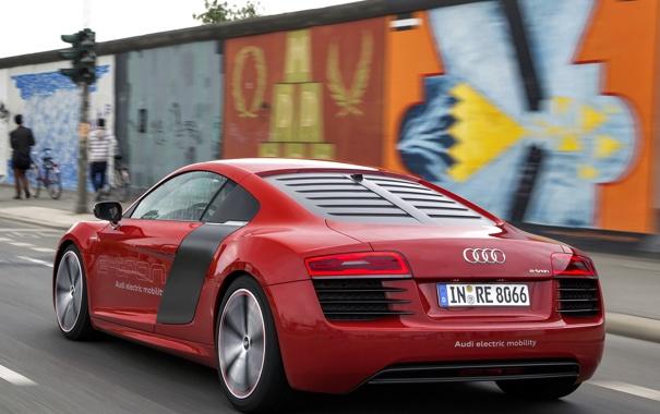 Фото обои машина, Audi, Prototype, в движении, задок, e-Tron