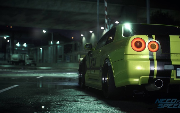 Фото обои тюнинг, Nissan, Skyline, R34, Need For Speed 2015