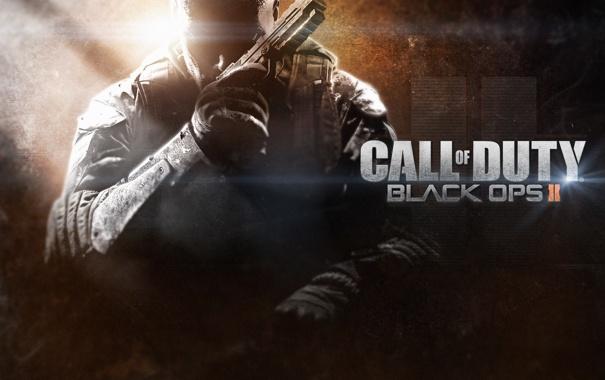 Фото обои пистолет, солдат, нож, Call of Duty, блик, Treyarch, Black Ops 2