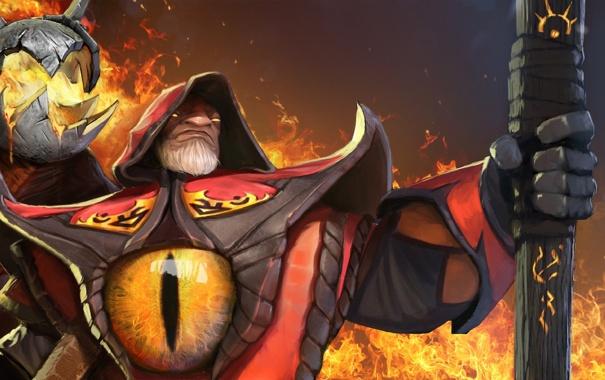 Фото обои глаз, огонь, игра, арт, fire, game, art