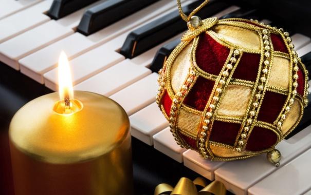 Фото обои шарики, украшения, праздник, music, Новый Год, Рождество, Christmas