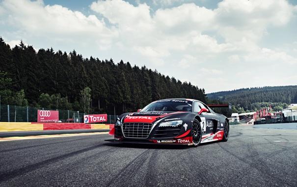 Фото обои Audi, Clouds, Sky, GT3, LMS, Grid, Team