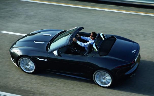 Фото обои car, Jaguar, black, speed, F-Type, V8 S