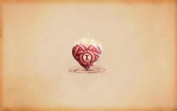Фото обои буквы, креатив, обои, сердце, минимализм, арт, слова
