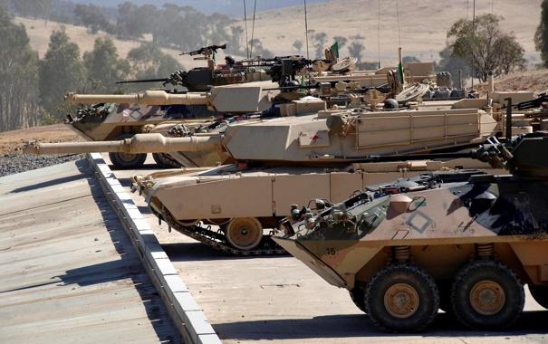 Фото обои танки, Abrams, военная техника, абрамс