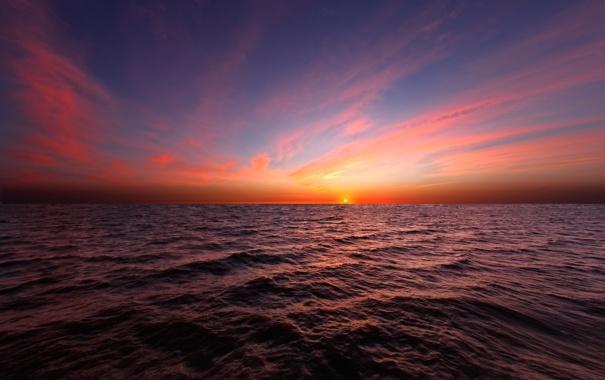 Фото обои восход, океан, Солнце, Аргентина