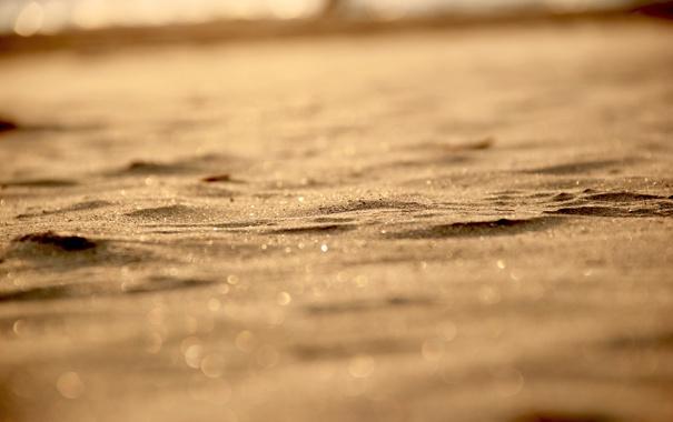 Фото обои 2560x1600, bokeh, light, sand, боке, песок, macro